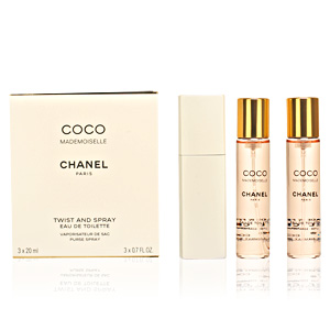 COCO MADEMOISELLE edt vaporizador twist&spray 3x20 60 ml
