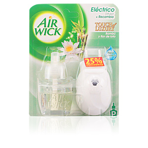 AIR-WICK TOUCH OF LUXURY amb. electrico comp. #flor de loto